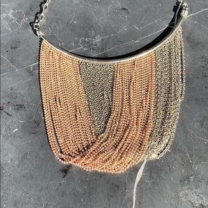 Gorgeous necklace silver and gold